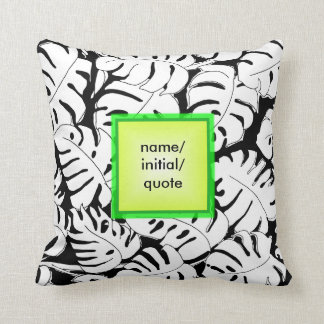 Monstera Personalize Cushion
