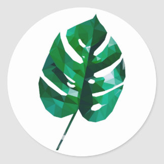 Monstera Round Sticker