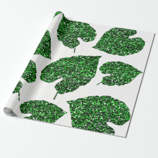 Monstera Tropical Cali Green Leaf Botanical White Wrapping Paper