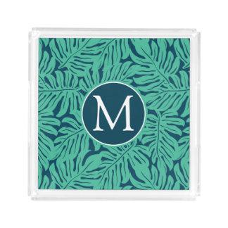 Monstera Tropical Leaf Pattern | Monogram