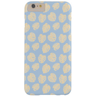 Monstera Tropical Pastel Lavender & Lemon Pattern Barely There iPhone 6 Plus Case