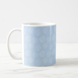 Monstera Tropical Pastel Lavender Pattern Coffee Mug