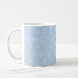 Monstera Tropical Pastel Lavender Pattern Coffee Mug