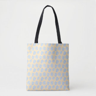 Monstera Tropical Pastel Lemon & Lavender Pattern Tote Bag