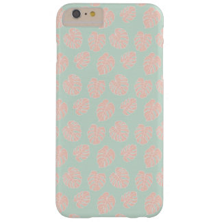 Monstera Tropical Pastel Mint & Coral Pattern Barely There iPhone 6 Plus Case