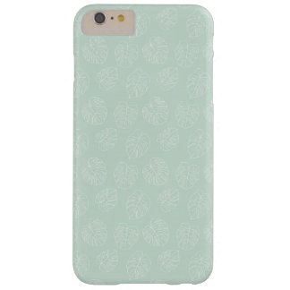 Monstera Tropical Pastel Mint Pattern Barely There iPhone 6 Plus Case