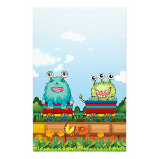 Monsters and train stationery