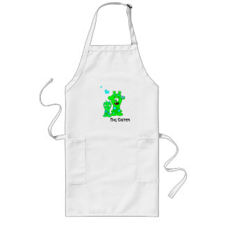 Monsters, Big Sister, Little Brother Cartoon Long Apron