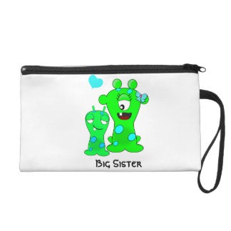 Monsters, Big Sister, Little Brother Cartoon Wristlet Purses