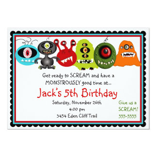 Monsters Birthday Invitation