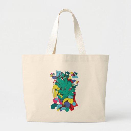 Monsters & Creatures Fantasy Cartoon Art Tote Bag