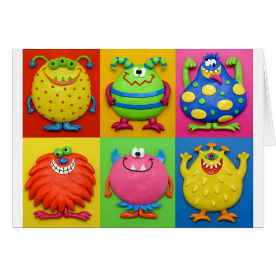 Monsters Greeting Card