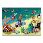 Monsters on the Beach Card