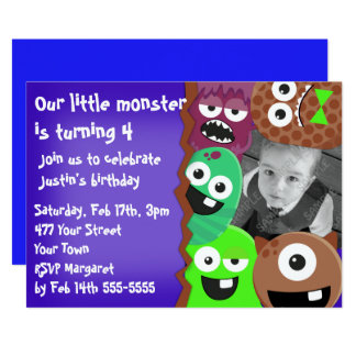 Monsters Photo Template Card