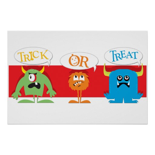 Monsters Trick-or-Treat Poster