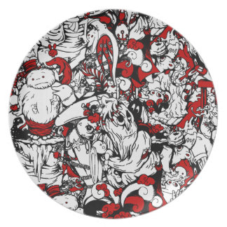 Monsters & Zombies Cartoon Characters Dinner Plate