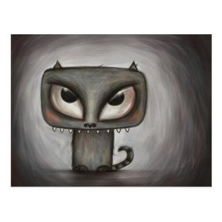 Monstrous kitty postcard