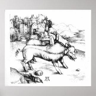 Monstrous Pig Poster