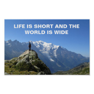Mont Blanc Alps Travel Quote Poster