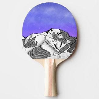 Mont Blanc evening landscape Ping Pong Paddle