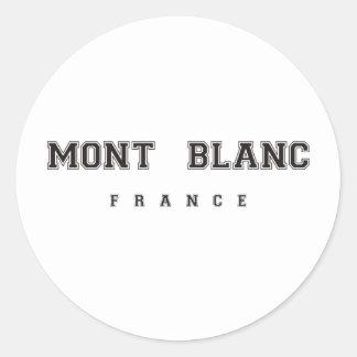 Mont Blanc France Classic Round Sticker