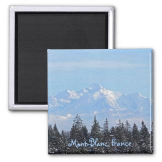 Mont-Blanc, France Square Magnet