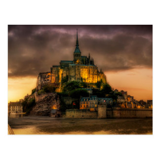 Mont Saint Michel at Twilight photo Postcard