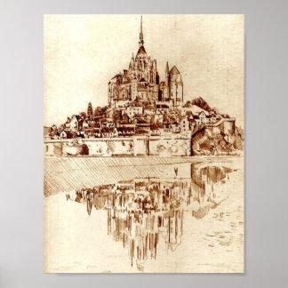 Mont Saint Michel Monastary Poster