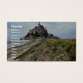 Mont-Saint-Michel, Normandy, France Business Card