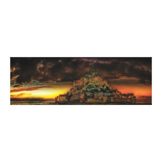 Mont Saint-Michel Panorama Canvas Print