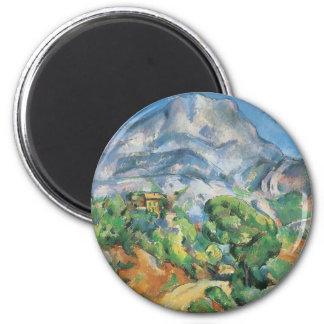 Mont Sainte Victoire Above Tholonet, Paul Cezanne 6 Cm Round Magnet