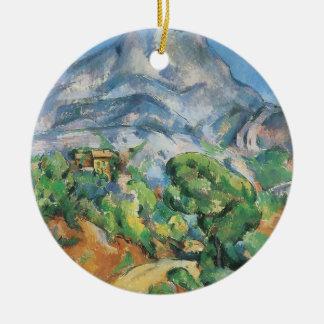 Mont Sainte Victoire Above Tholonet, Paul Cezanne Round Ceramic Decoration