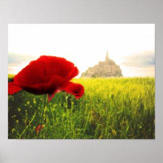 Mont St Michel France Fairy Tale Castle Poster