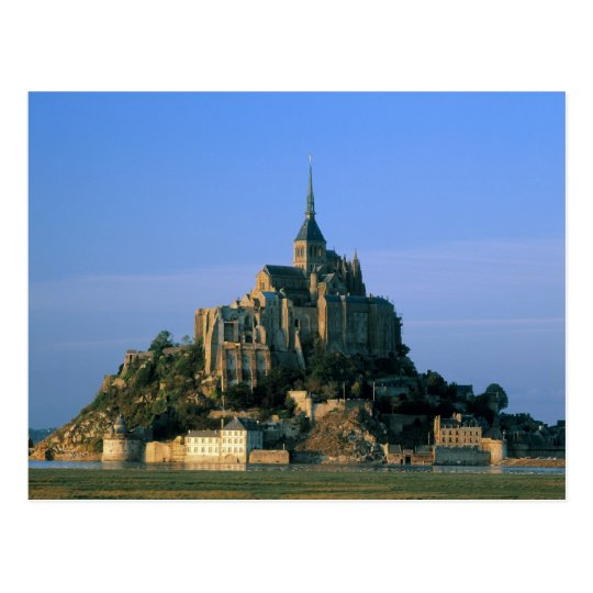 Mont st michel manche normandy france postcard zazzle for Au jardin st michel pontorson france