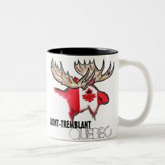 Mont Tremblant elk art flag coffee mug