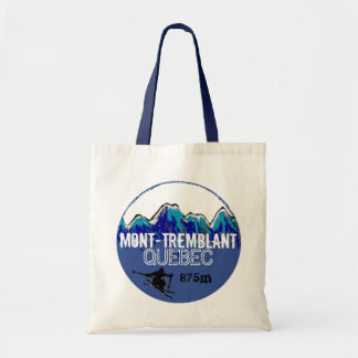 Mont Tremblant Quebec ski blue reusable bag