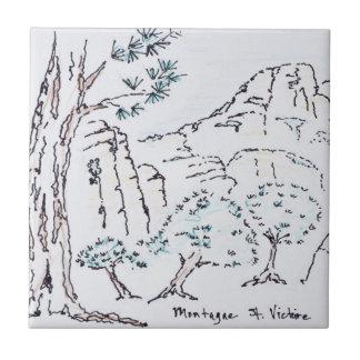 Montagne Sainte-Victoire | South of France Tile