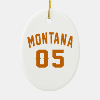 Montana 05 Birthday Designs Ceramic Oval Decoration