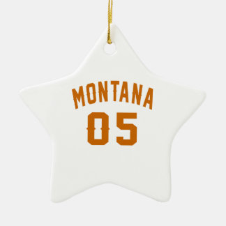 Montana 05 Birthday Designs Ceramic Star Decoration