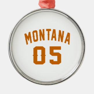 Montana 05 Birthday Designs Silver-Colored Round Decoration