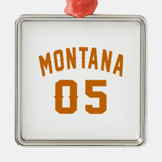 Montana 05 Birthday Designs Silver-Colored Square Decoration
