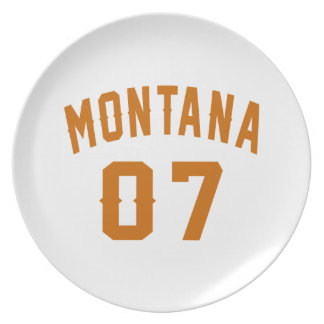 Montana 07 Birthday Designs Plate
