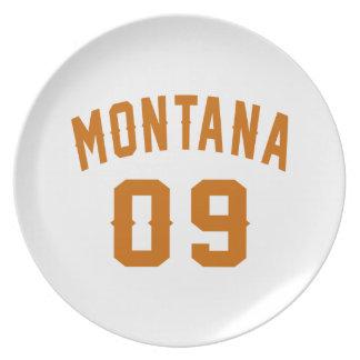 Montana 09 Birthday Designs Plate
