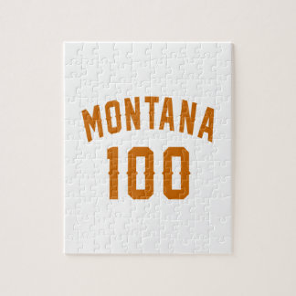 Montana 100 Birthday Designs Jigsaw Puzzle