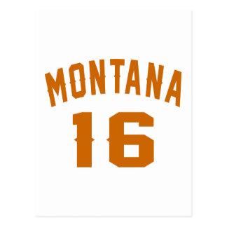 Montana 16 Birthday Designs Postcard