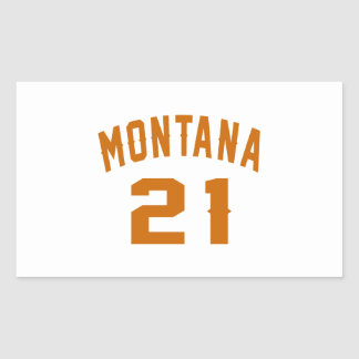Montana 21 Birthday Designs Rectangular Sticker