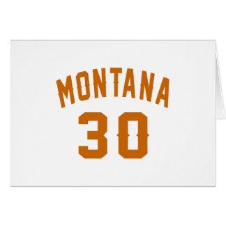 Montana 30 Birthday Designs Card