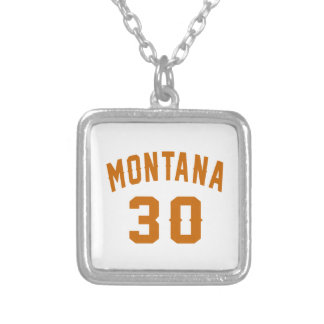 Montana 30 Birthday Designs Silver Plated Necklace