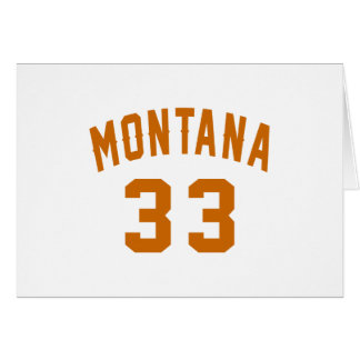 Montana 33 Birthday Designs Card