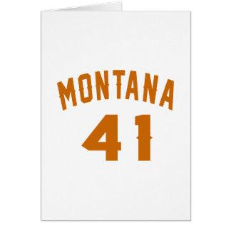Montana 41 Birthday Designs Card